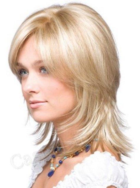 Прически на тонких волосах средней длины своими