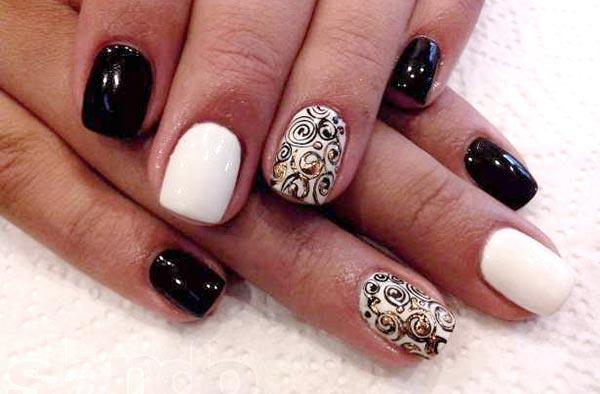 Дизайн ногтей красный гель-лак