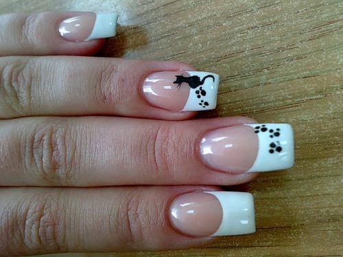 рисунки гелевой ручкой фото на ногтях